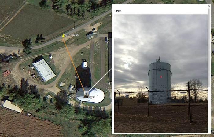 Измерване на отдалечени обекти с GPS локация с помощта на Spike лазерно устройство